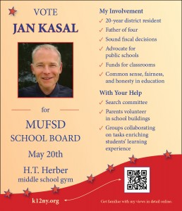 Jan Kasal BOE candidate flyer