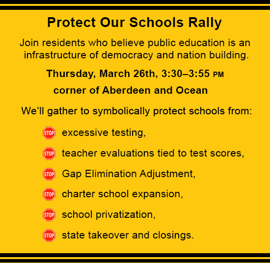 Protect Our Schools Rally