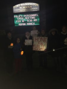 pw vigil on eve of DeVos confirmation & personnel cmte meeting
